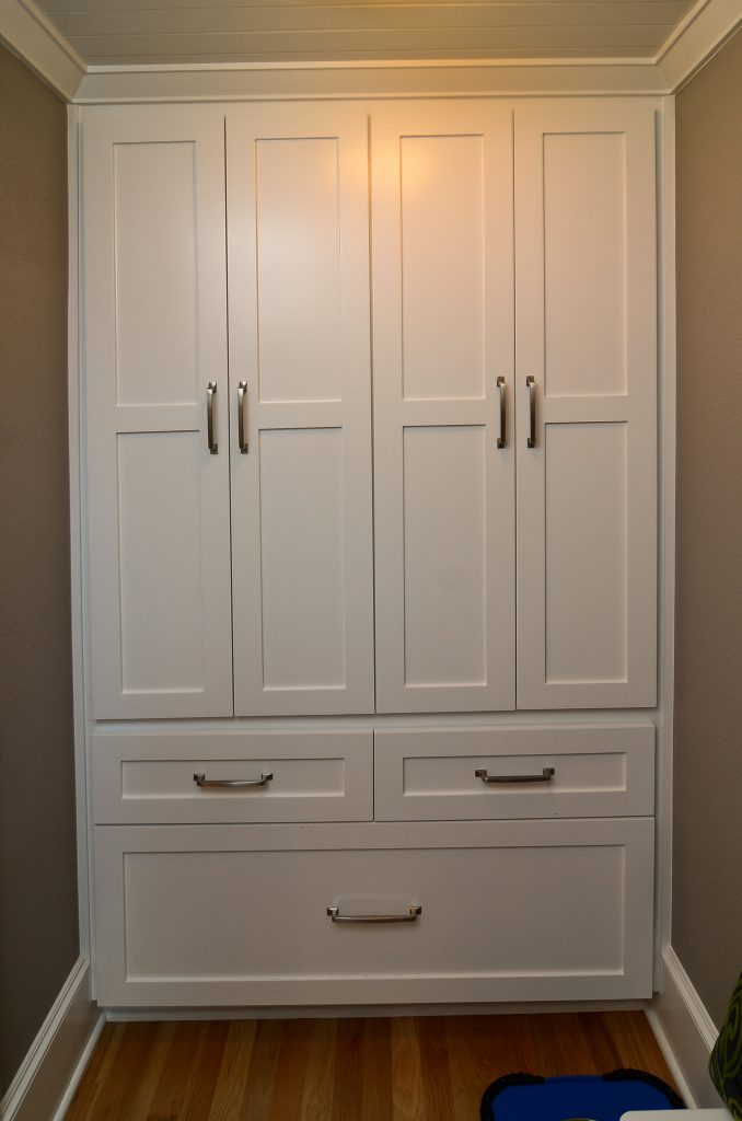 Built-in storage in the mudroom keeps things out of sight.