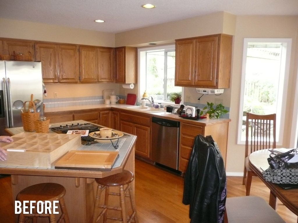 marvelous 90S Kitchen Remodel #3: simple-shaker-kitchen-before-2