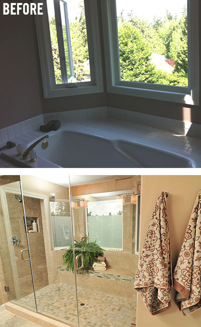Master Bathtub Serene Surroundings - Master Bathroom: Should I remove the tub?