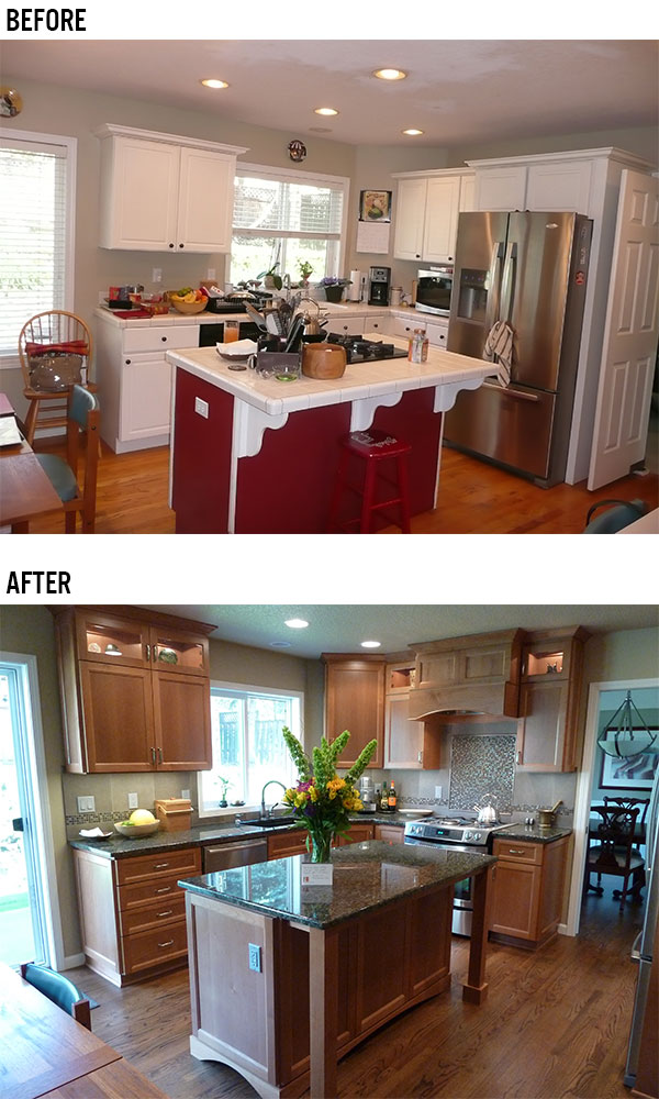 Clackamas Kitchen Before And After Mountainwood Homes