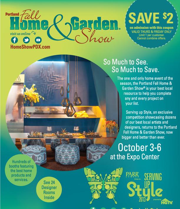 Portland Fall Home & Garden Show Coupon