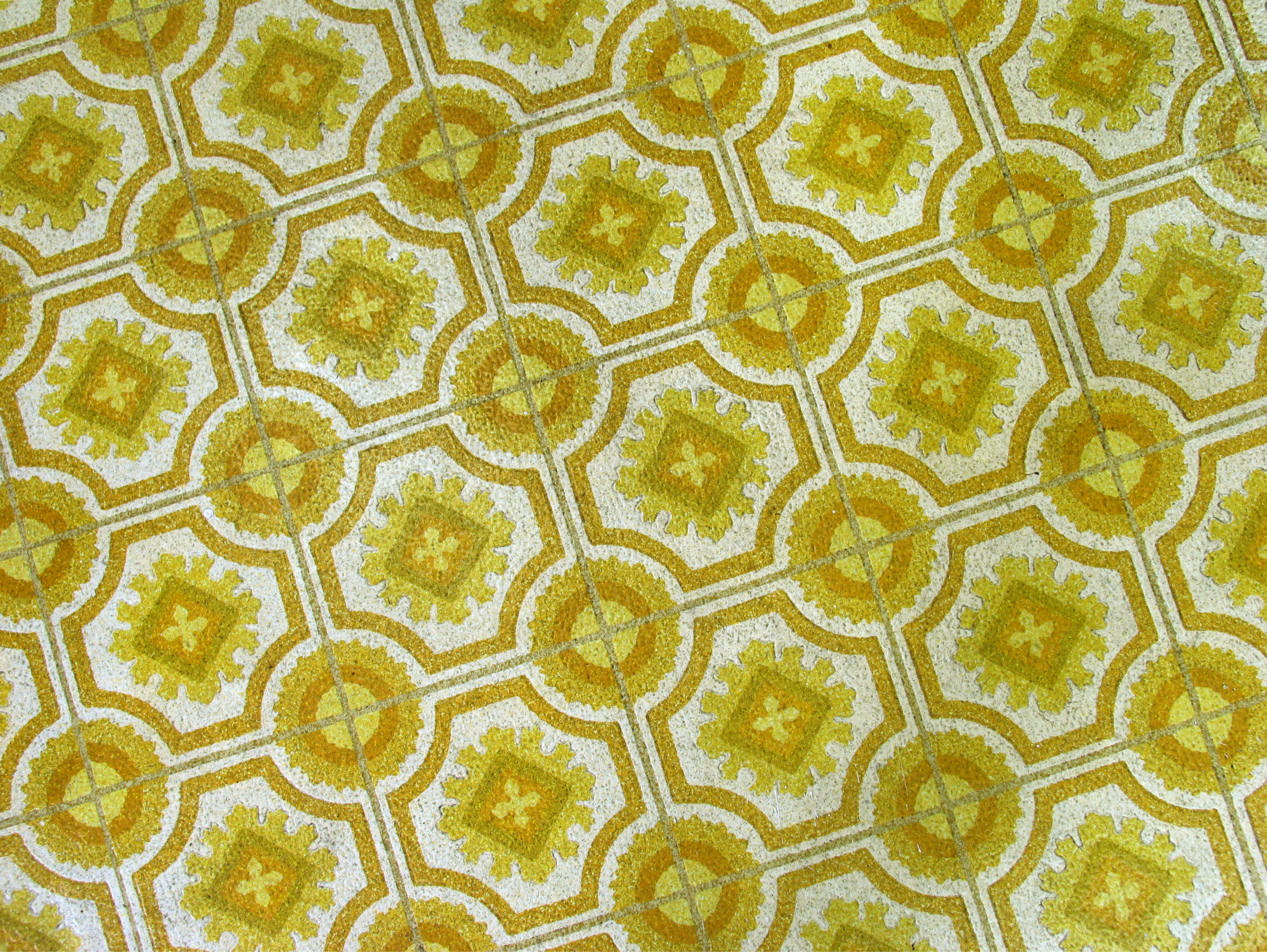 Old Floor Pattern at Beauty Salon