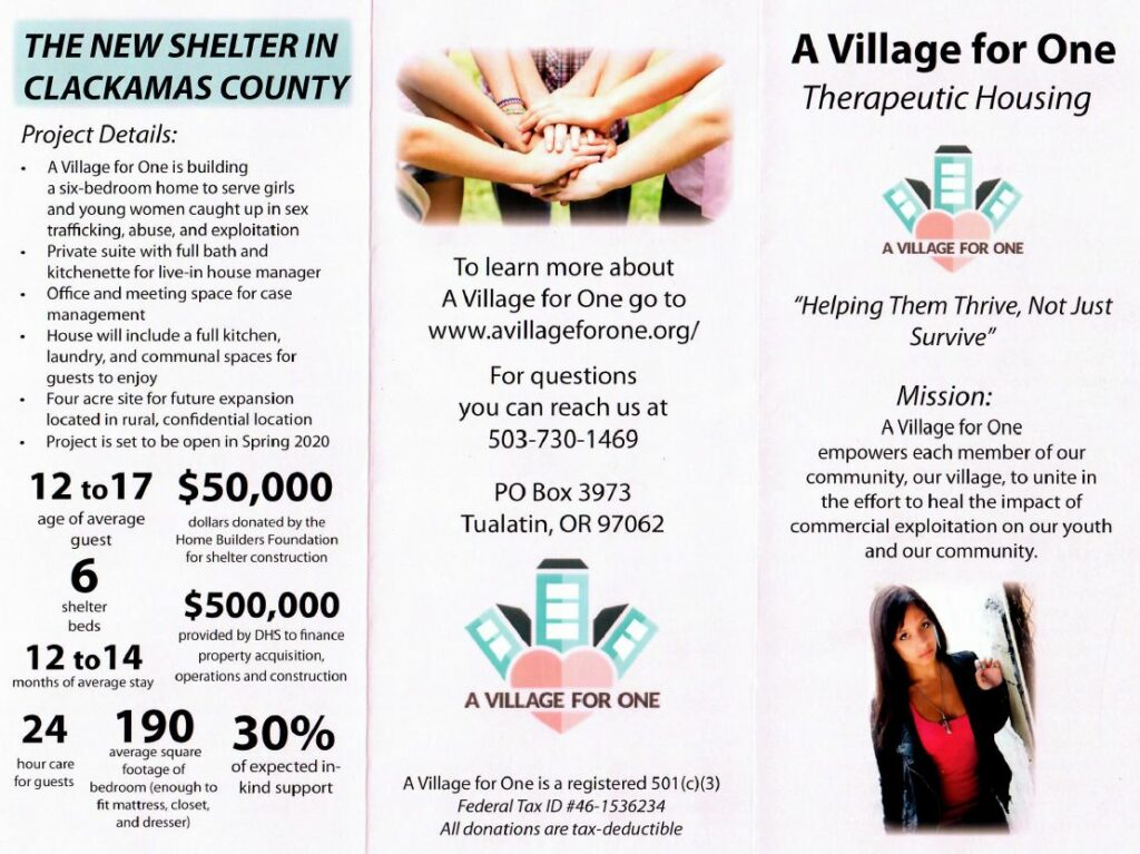 Donations Needed for A Village for One Therapeutic Housing in Clackamas County