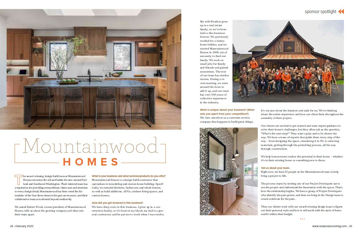 Portland Real Estate agent magazine article