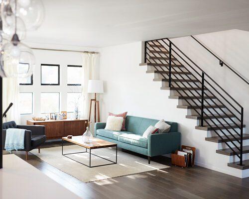 Modern interior staircase