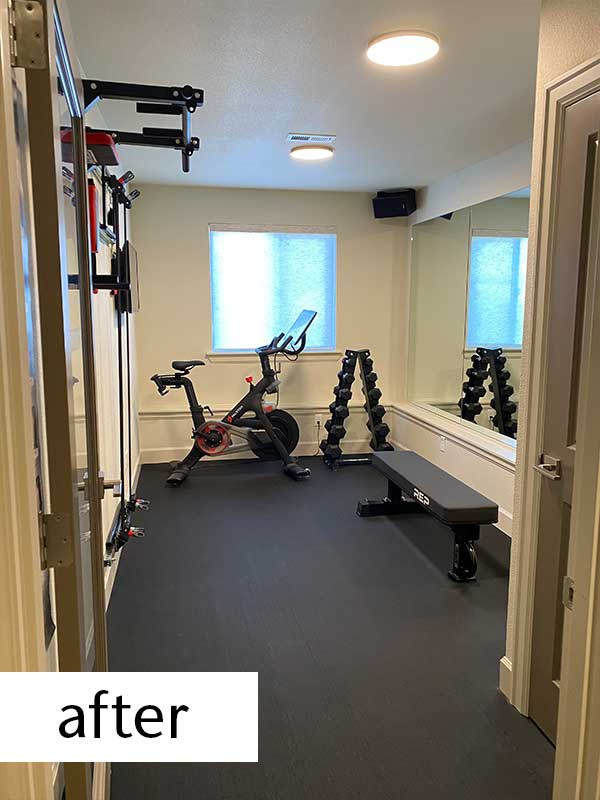 Home Gym After Remodel